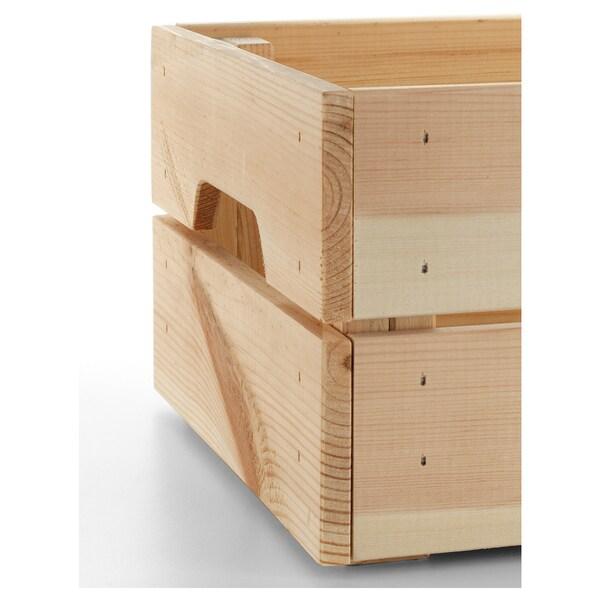 KNAGGLIG Boîte, pin, 23x31x15 cm