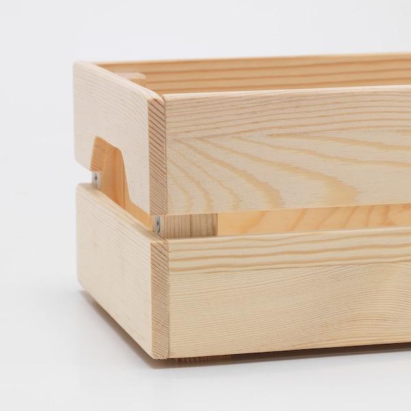 KNAGGLIG Boîte, pin, 23x16x10 cm