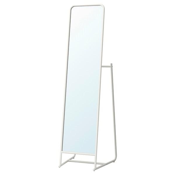 KNAPPER Miroir sur pied, blanc, 48x160 cm