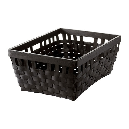 knarra panier brun noir 38x29x16 cm ikea. Black Bedroom Furniture Sets. Home Design Ideas