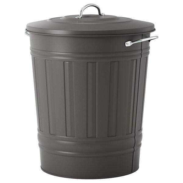 KNODD poubelle avec couvercle gris 51 cm 41 cm 40 l