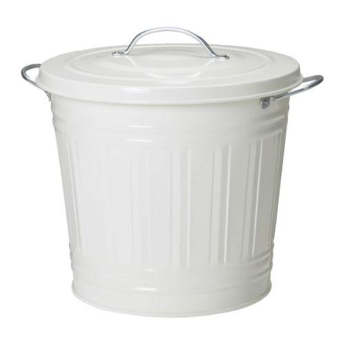 Knodd poubelle blanc 16 l ikea for Poubelle salle de bain ikea