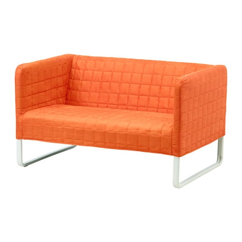 Knopparp canap 2 places orange ikea for Canape 2 places ikea