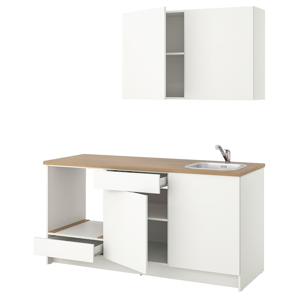 KNOXHULT Cuisine, blanc, 180x61x220 cm