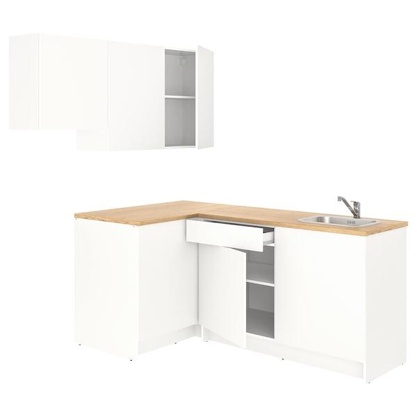 KNOXHULT Cuisine d'angle, blanc, 182x183x220 cm