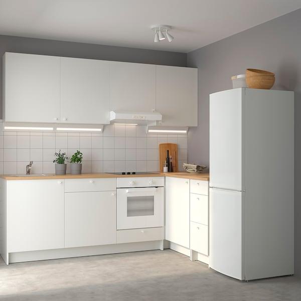 KNOXHULT Cuisine d'angle, blanc, 243x164x220 cm