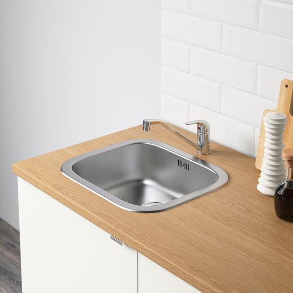 KNOXHULT Élément bas avec portes et tiroir, blanc, 120 cm