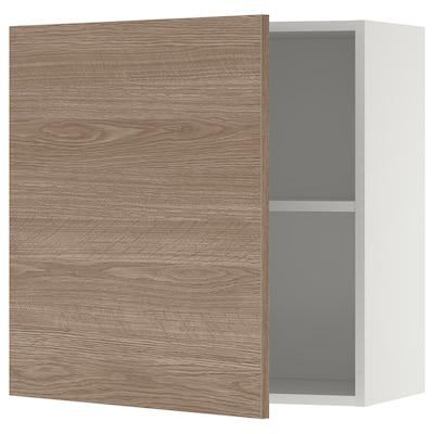 KNOXHULT Élément mural avec porte, effet bois/gris, 60x60 cm