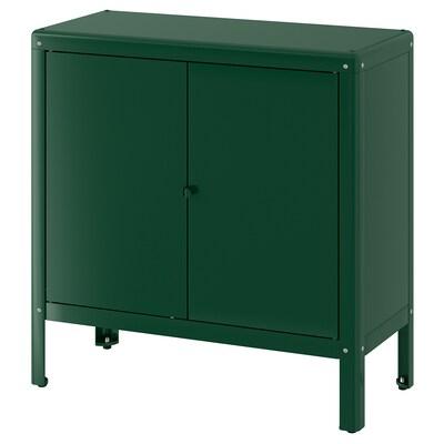 KOLBJÖRN Élément rangement int/extérieur, vert, 80x81 cm