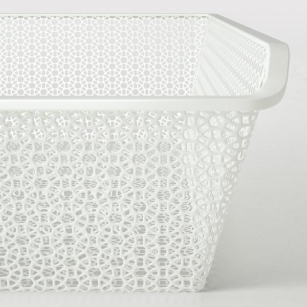 KOMPLEMENT Corbeille métallique, à motifs/blanc, 50x58 cm