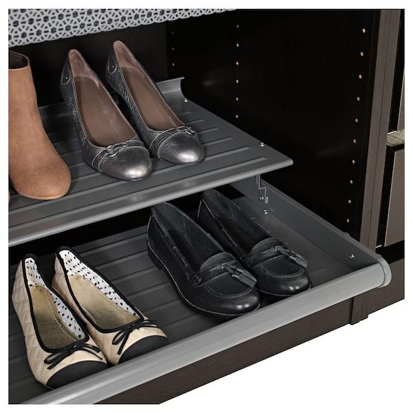 KOMPLEMENT Étagère à chaussures coulissante, gris foncé, 100x58 cm