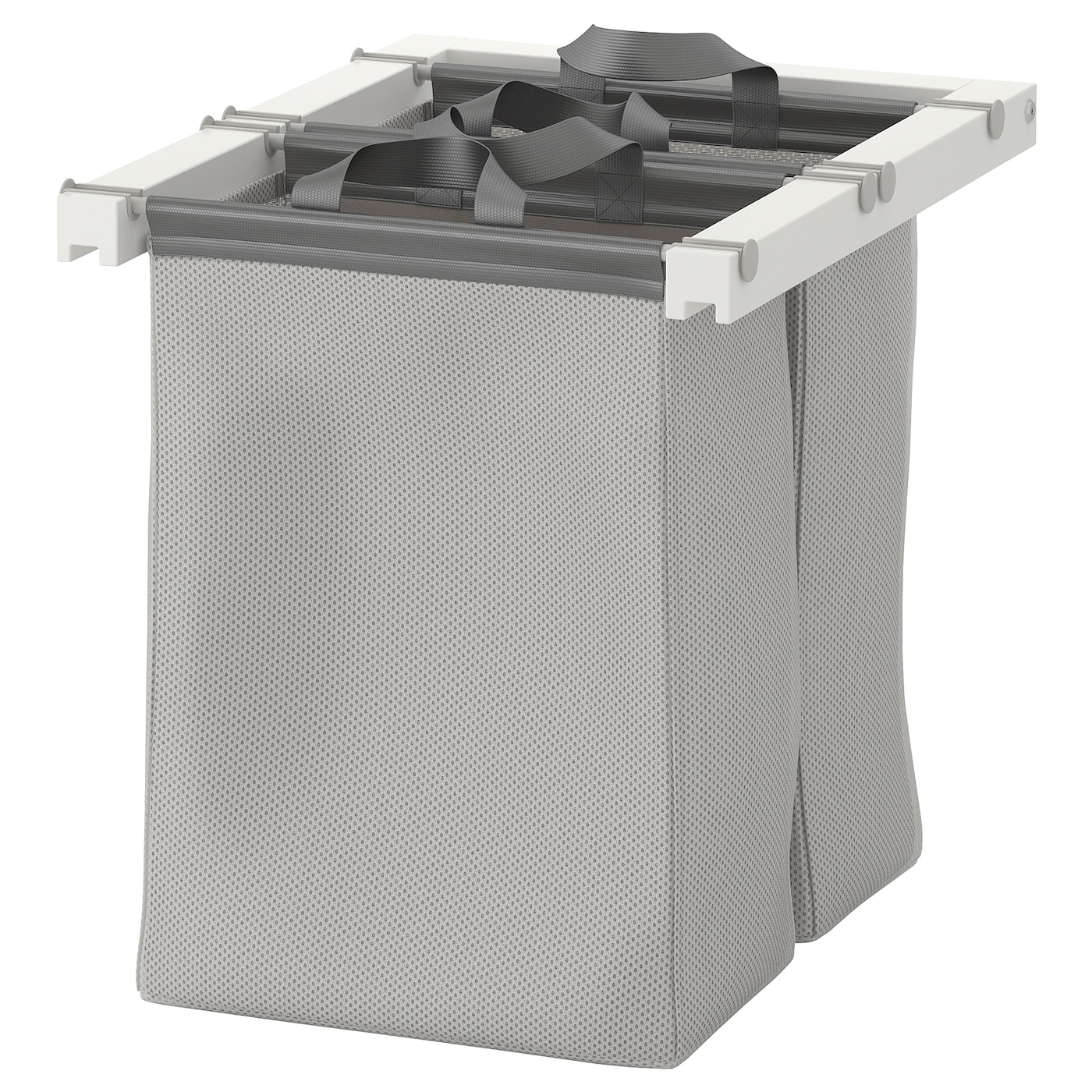 Caisson Pour Seche Linge komplement sac de rangement coulissant - blanc 50x58x48 cm