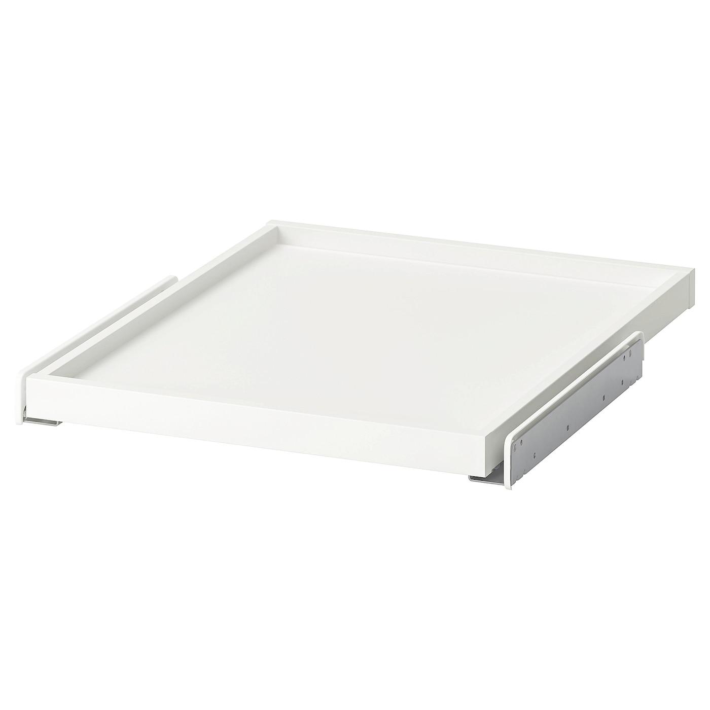 Plan De Travail Coulissant komplement plateau coulissant - blanc 50x58 cm