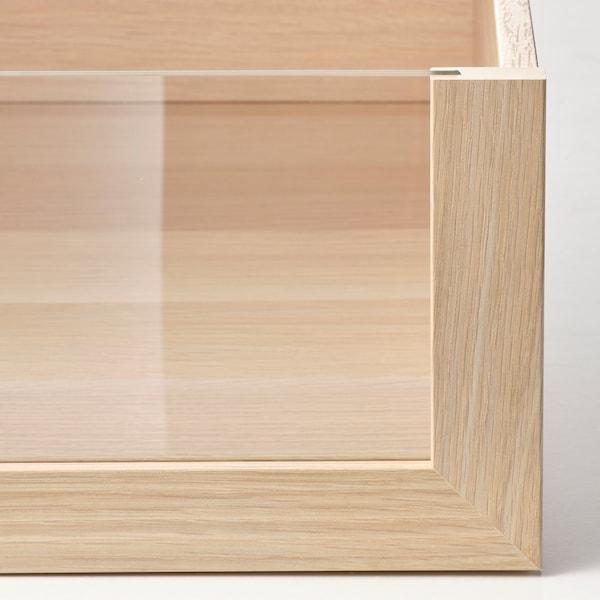 KOMPLEMENT Tiroir avec face en verre, effet chêne blanchi, 50x58 cm