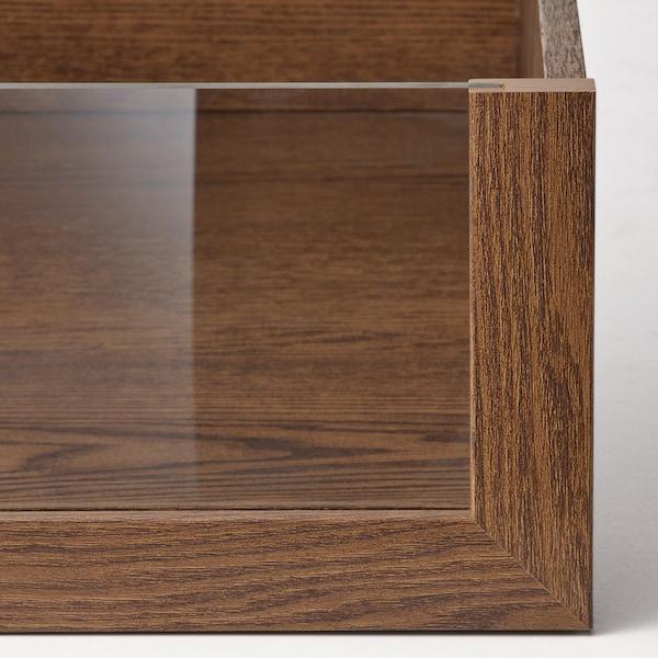 KOMPLEMENT Tiroir avec face en verre, motif frêne effet brun moyen, 50x58 cm