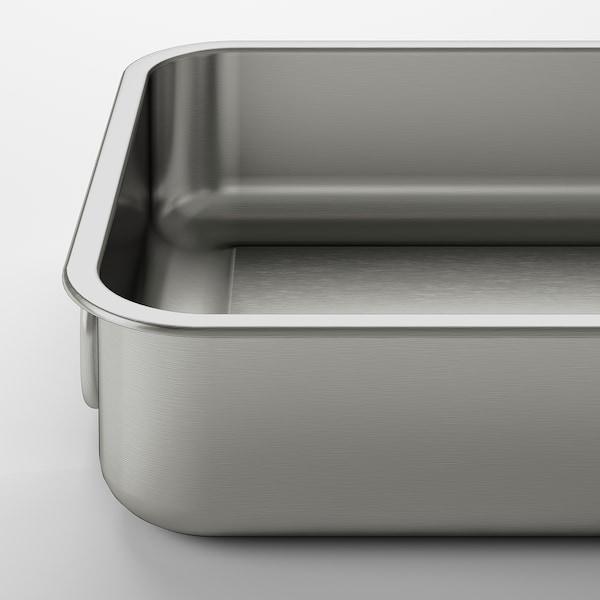 KONCIS plat à four acier inoxydable 26 cm 20 cm 5.5 cm