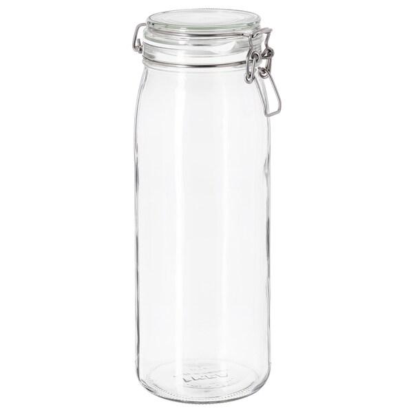 KORKEN bocal avec couvercle verre transparent 30.5 cm 11 cm 2 l