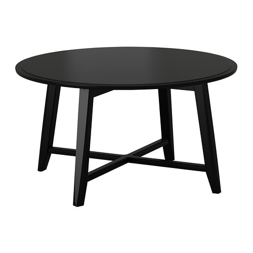 Kragsta table basse noir ikea for Table de salon plexiglass