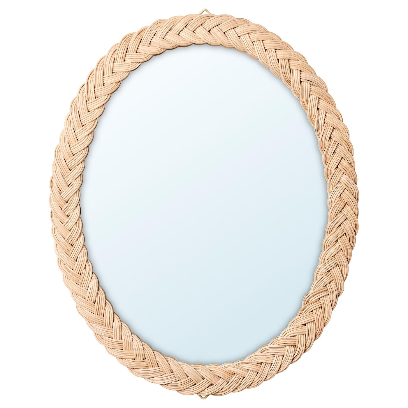 KRISTINELUND Miroir, rotin 61×50 cm