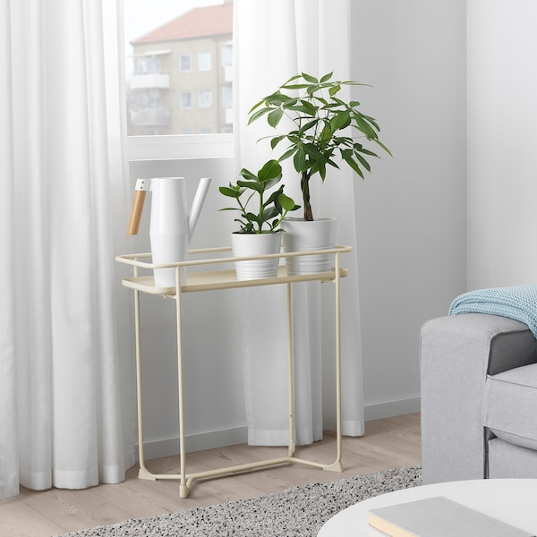 KRYDDPEPPAR Piédestal, intérieur/extérieur beige, 65 cm