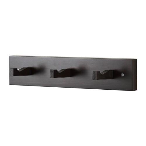 kubbis pat re 3 crochets brun noir ikea. Black Bedroom Furniture Sets. Home Design Ideas