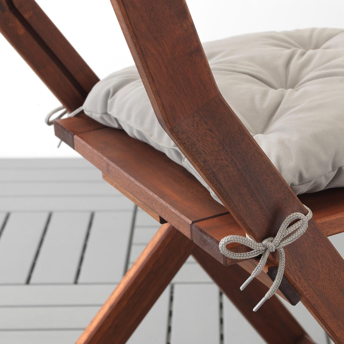 KUDDARNA Coussin de chaise, extérieur gris 36x32 cm