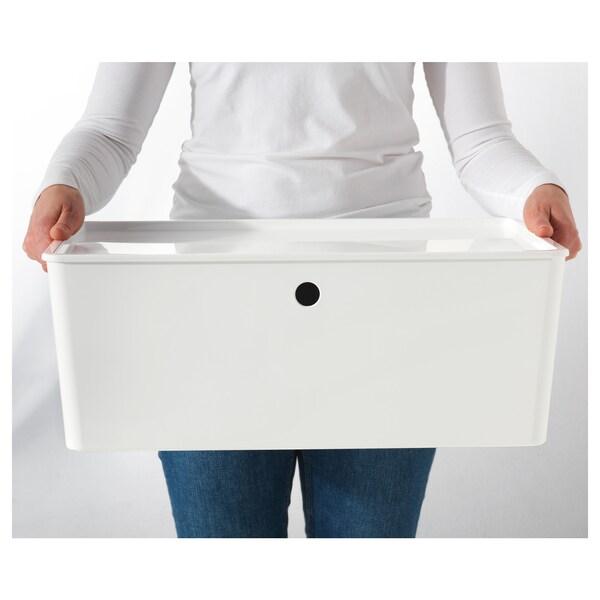 KUGGIS boîte avec couvercle blanc 37 cm 54 cm 21 cm