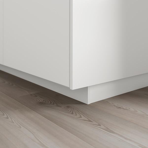 KUNGSBACKA Plinthe, blanc mat, 220x8 cm
