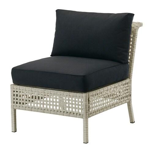 Kungsholmen kungs fauteuil ext rieur gris clair noir ikea - Ikea fauteuil exterieur ...