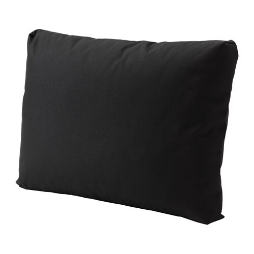 kungs coussin dossier ext rieur noir 62x44 cm ikea. Black Bedroom Furniture Sets. Home Design Ideas