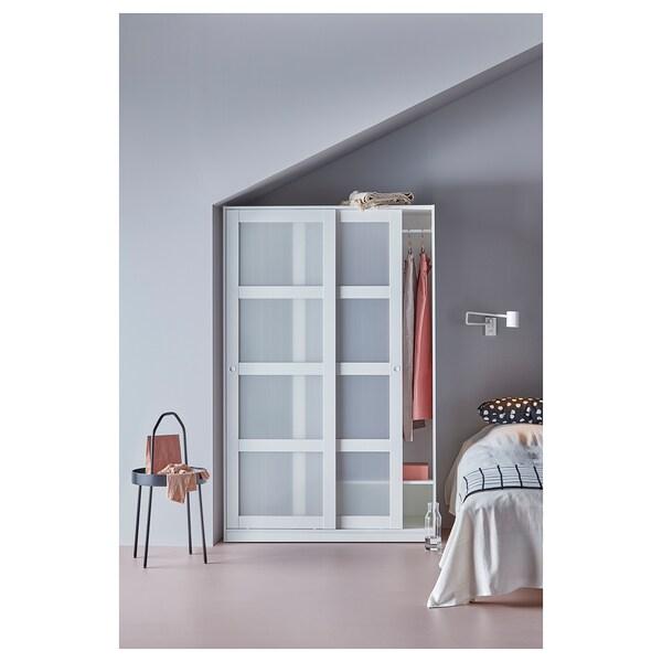 KVIKNE Armoire 2 portes coulissantes, blanc, 120x190 cm
