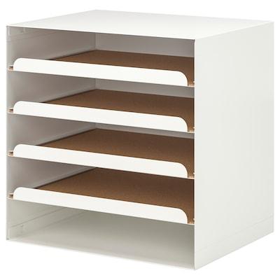 KVISSLE corbeille à courrier blanc 32 cm 25 cm 32 cm
