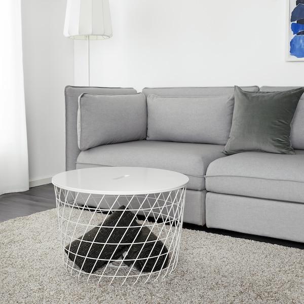 KVISTBRO Table de rangement, blanc, 61 cm