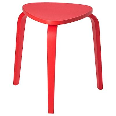 KYRRE tabouret rouge vif 100 kg 42 cm 48 cm 45 cm 34 cm 35 cm