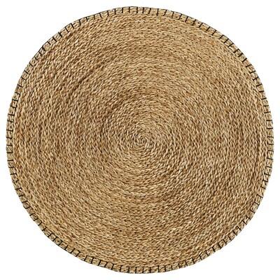 KYSING tapis, tressé jonc de mer /noir 74 cm 0.43 m²