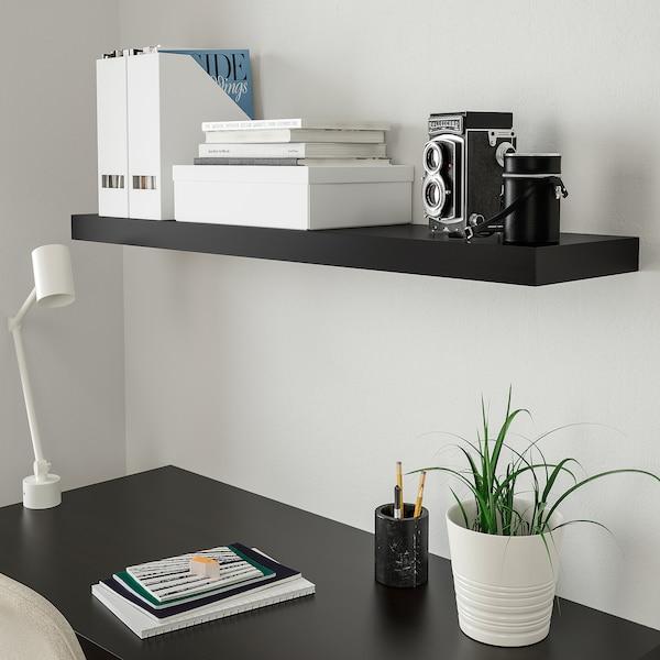 Lack Etagere Murale Brun Noir 110x26 Cm Ikea