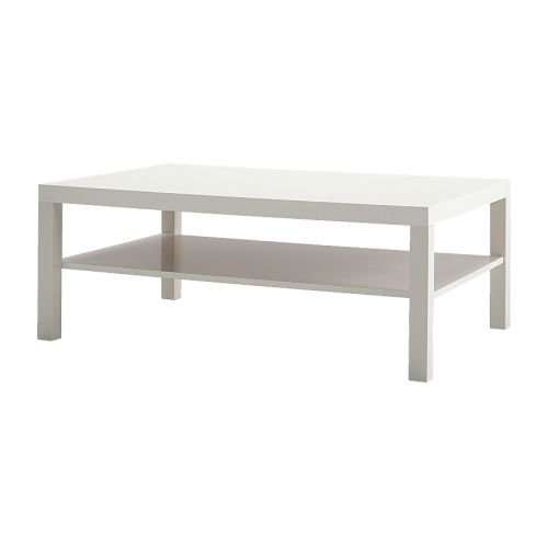 Lack table basse blanc ikea for Table basse lack blanche