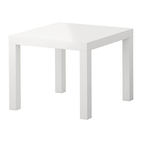 Lack table d 39 appoint brillant blanc ikea - Table de cuisine ikea ...