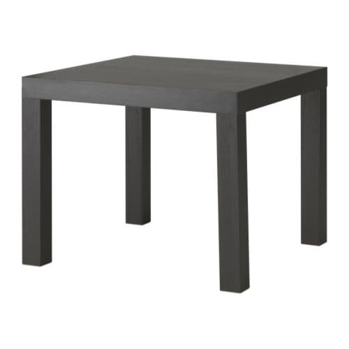 Lack table d 39 appoint brun noir ikea for Ikea besta table d appoint