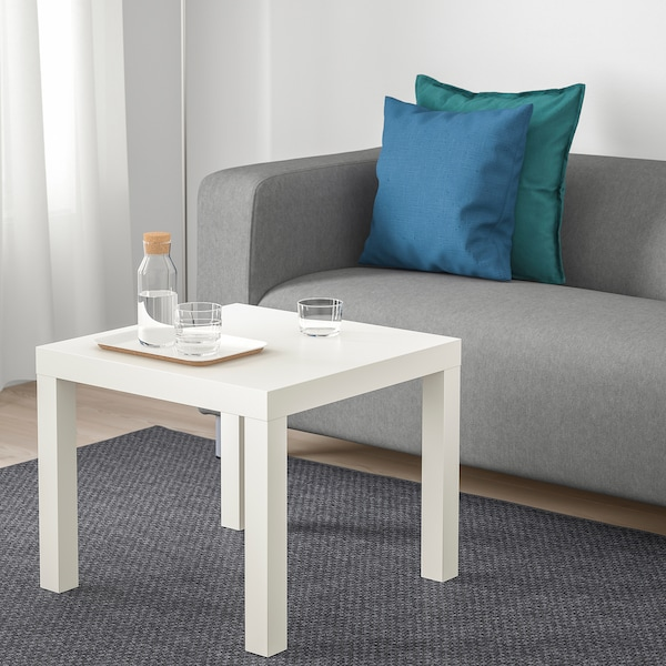 LACK Table d'appoint, blanc, 55x55 cm