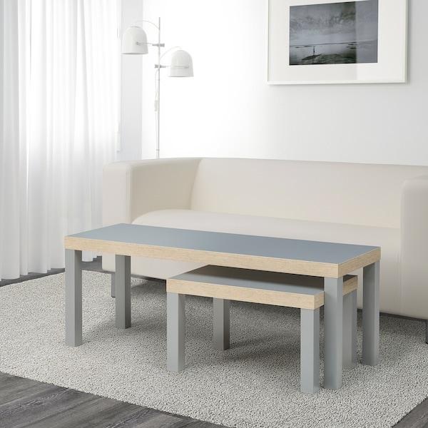 LACK Tables gigognes, lot de 2, gris