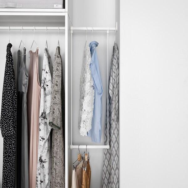 LÄTTHET Tringle à habit à accrocher, blanc, 35-60x55 cm