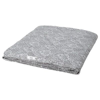 LÅGBJÖRK Couette, légère, gris foncé/blanc, 150x200 cm