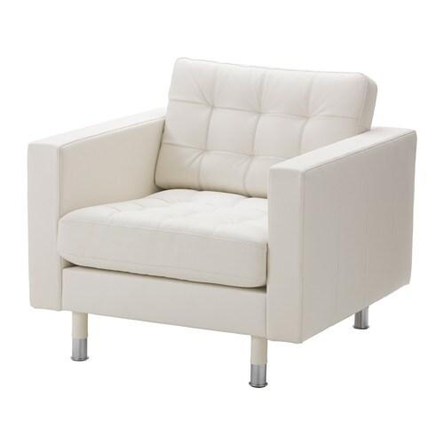 landskrona fauteuil grann bomstad blanc m tal ikea. Black Bedroom Furniture Sets. Home Design Ideas