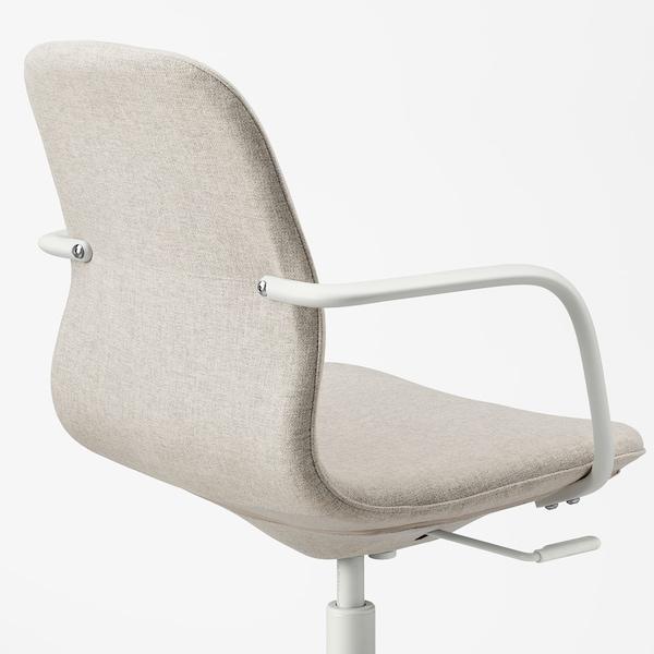 LÅNGFJÄLL Chaise conférence av accoudoirs, Gunnared beige/blanc
