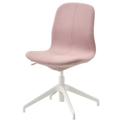 LÅNGFJÄLL Chaise conférence, Gunnared brun-rose clair/blanc