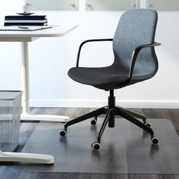 LÅNGFJÄLL Chaise de bureau av accoudoirs, Gunnared bleu/noir