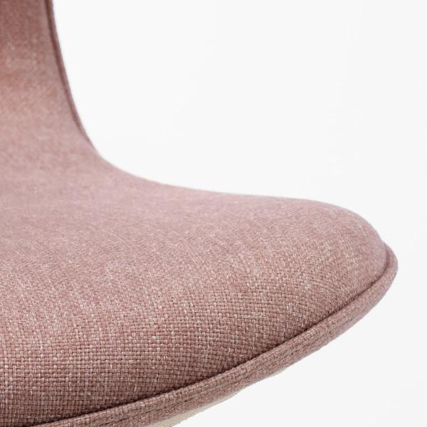 LÅNGFJÄLL Chaise de bureau, Gunnared brun-rose clair/noir