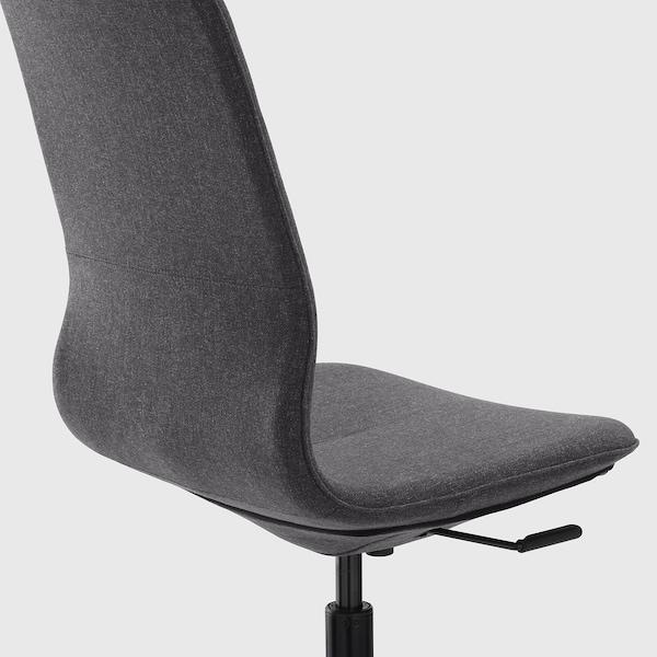 LÅNGFJÄLL Chaise de bureau, Gunnared gris foncé/noir