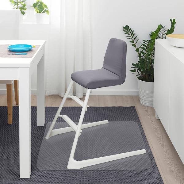 LANGUR Coussin rembourré chaise enfant, gris IKEA